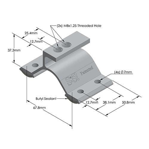 S-5! CorruBracket Dimensions - Metric
