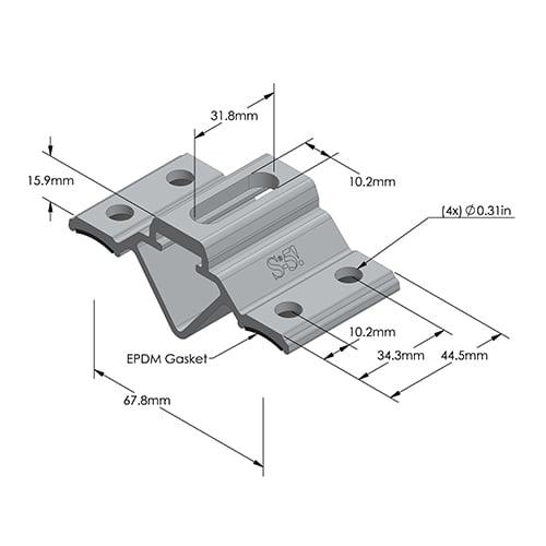 S-5 CorruBracket™ 100T Dimensions - Metric